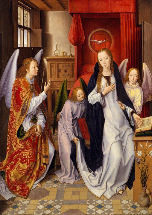 Hans Memling~The Annunciation - Old master