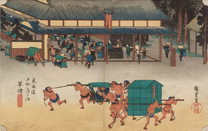 Hiroshige~Kusatsu Famous Resting Pla - Old master