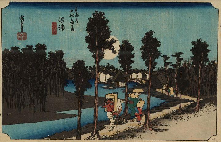 Hiroshige~Numazu Scene at Dusk - Old master