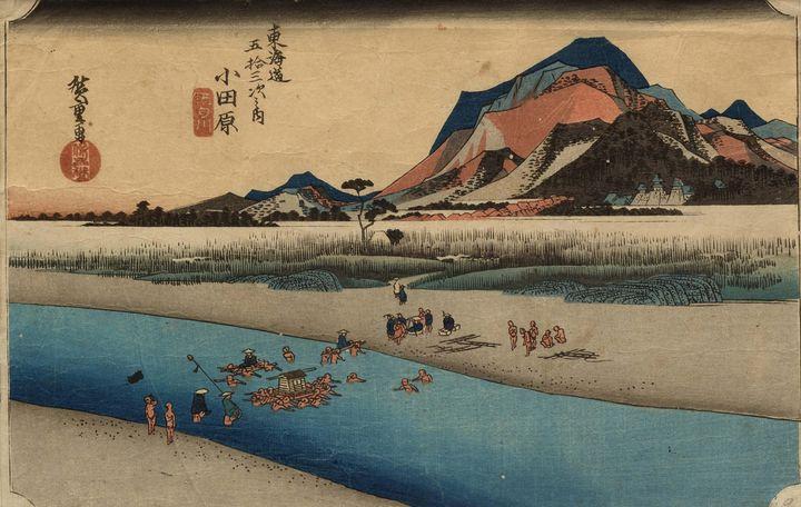 Hiroshige~Odawara Sakawa River - Old master