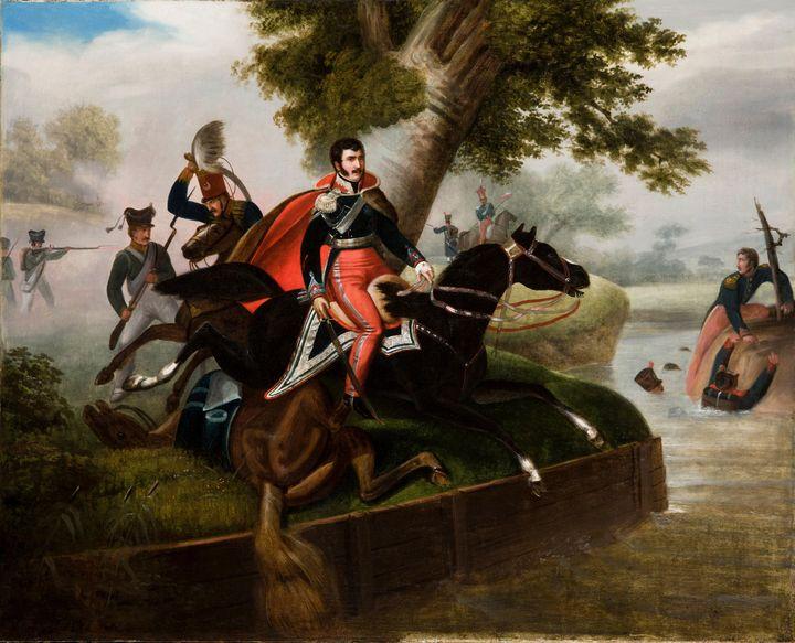 Horace Vernet~Death of Prince Józef - Old master