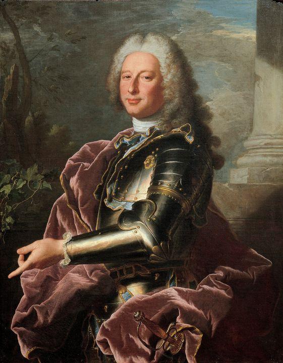 Hyacinthe Rigaud~Gio. Francesco II B - Old master