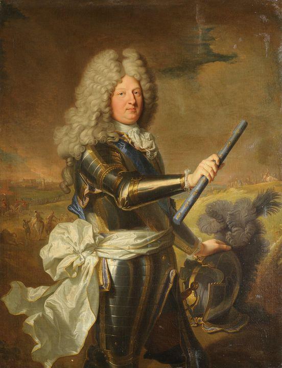 Hyacinthe Rigaud~Louis de France, da - Old master