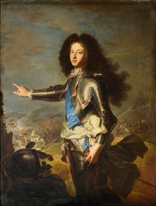 Hyacinthe Rigaud~Louis de France, Du - Old master