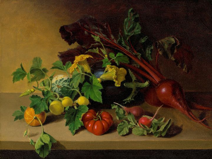 James Peale~Still Life with Vegetabl - Old master