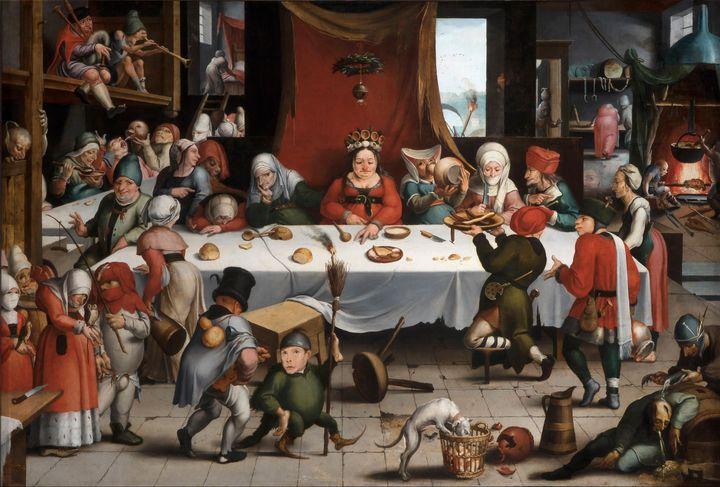 Jan Mandijn~Burlesque Feast - Old master