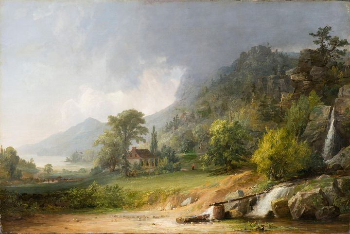 Jasper Francis Cropsey~Passing Showe - Old master