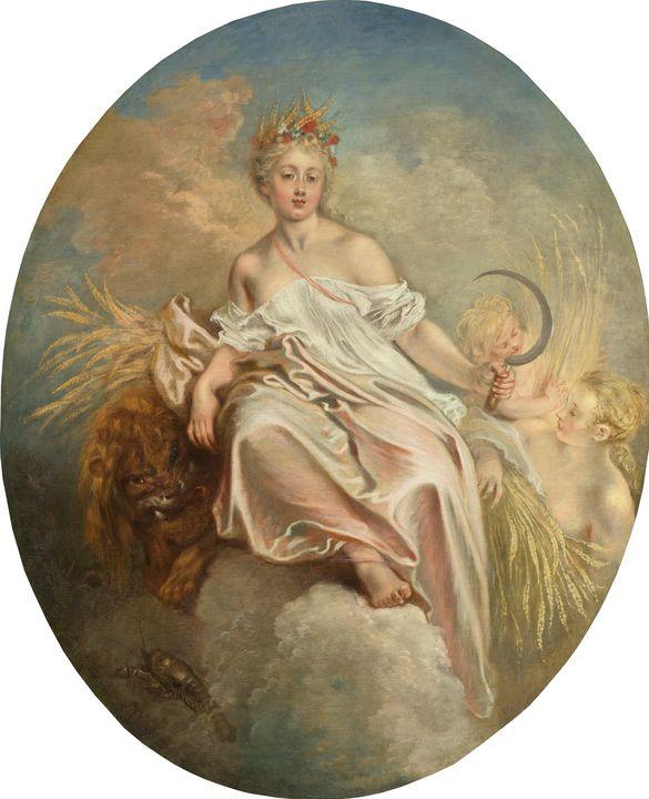 Jean-Antoine Watteau~Ceres (Summer) - Old master