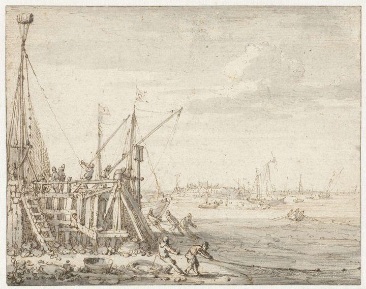 Cornelis Claesz van Wieringen~Havenh - Old master
