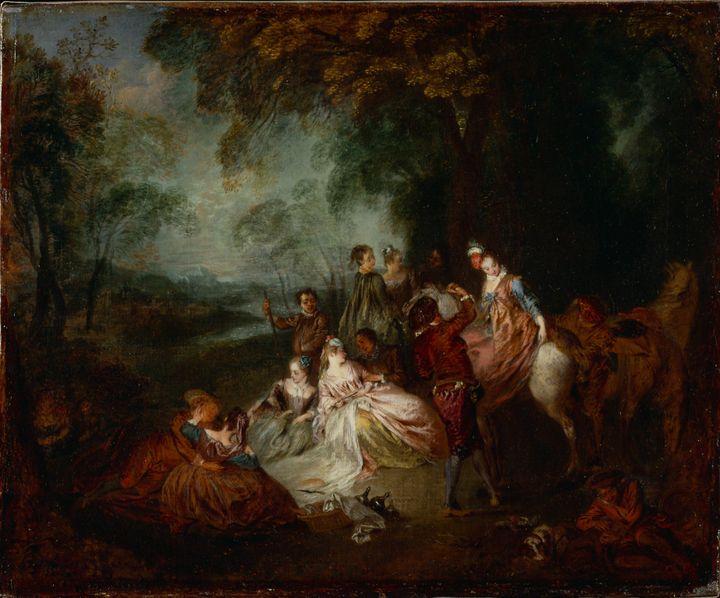 Jean-Antoine Watteau~Fete Champetre - Old master