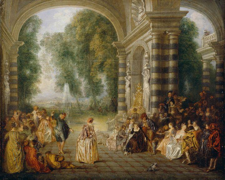 Jean-Antoine Watteau~Les Plaisirs du - Old master