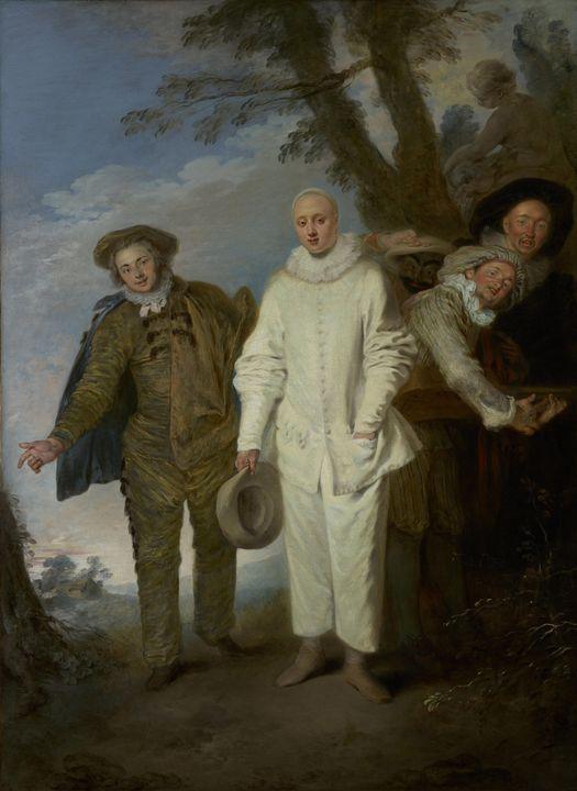 Jean-Antoine Watteau~The Italian Com - Old master