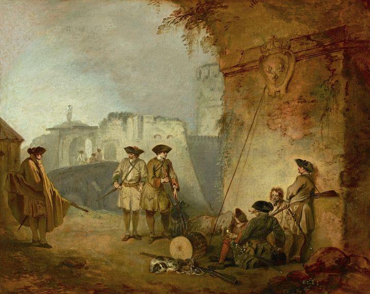 Jean-Antoine Watteau~The Portal of V - Old master
