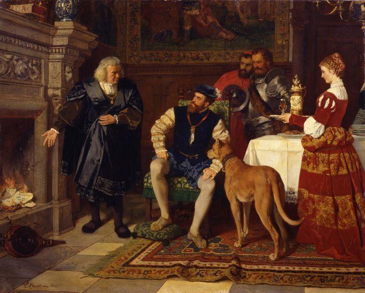 Karl Becker~Emperor Karl V. with Jak - Old master