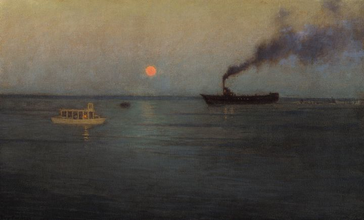 L. Birge Harrison~Rosy Moon Off Char - Old master