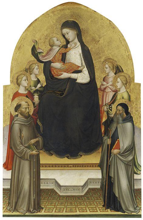 Mariotto di Nardo~Madonna and Christ - Old master