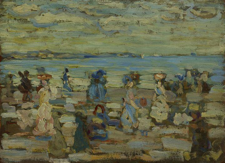 Maurice Brazil Prendergast~Beach Sce - Old master
