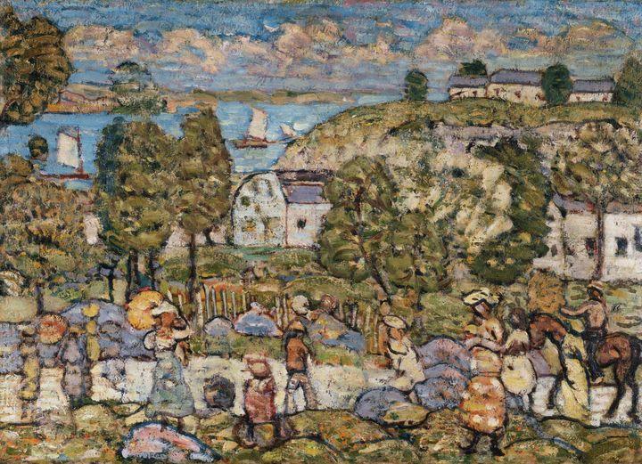 Maurice Prendergast~Landscape Near N - Old master