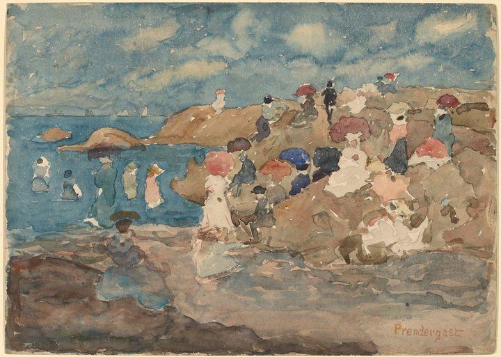 Maurice Prendergast~Revere Beach - Old master