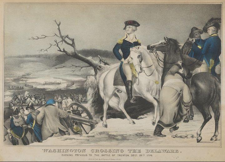 Nathaniel Currier~Washington Crossin - Old master