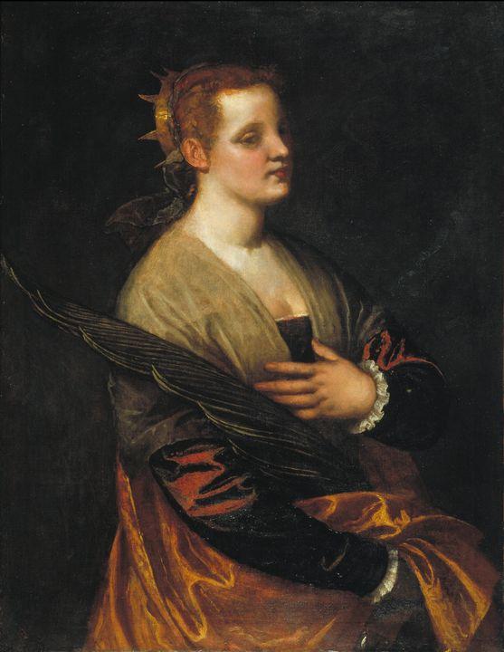 Paolo Veronese~Saint Catherine - Old master