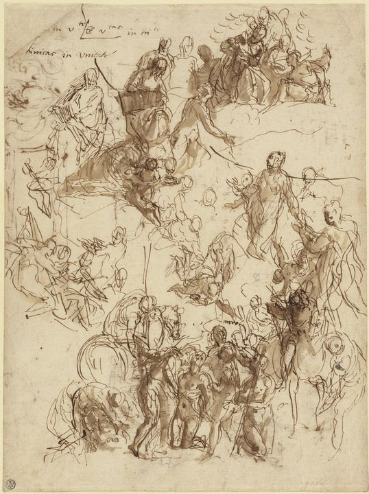 Paolo Veronese~Sheet of Studies for - Old master