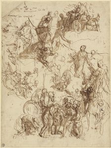 Paolo Veronese~Sheet of Studies for