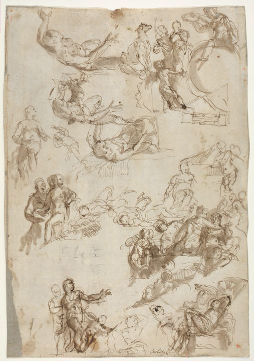 Paolo Veronese~Studies for The Alleg - Old master