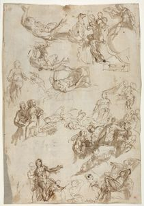 Paolo Veronese~Studies for The Alleg