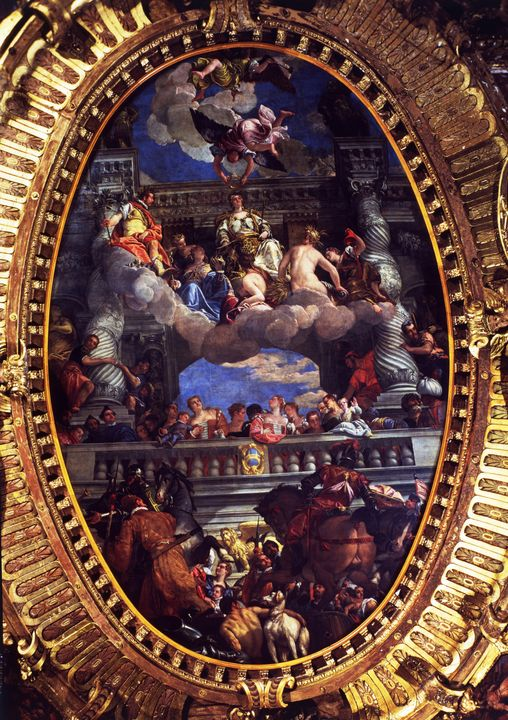 Paolo Veronese~The Apotheosis of Ven - Old master