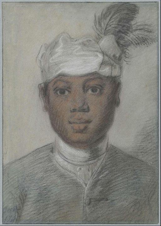 Cornelis Troost~Hoofd van een zwarte - Old master