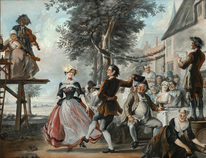 Cornelis Troost~The Wedding of Klori - Old master