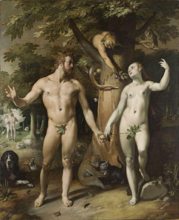 Cornelis van Haarlem~The Fall of Man - Old master