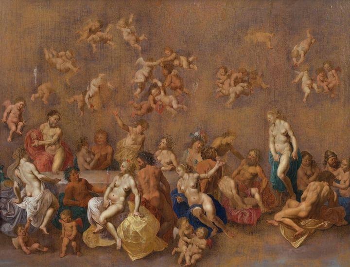 Cornelis van Poelenburgh~The Banquet - Old master