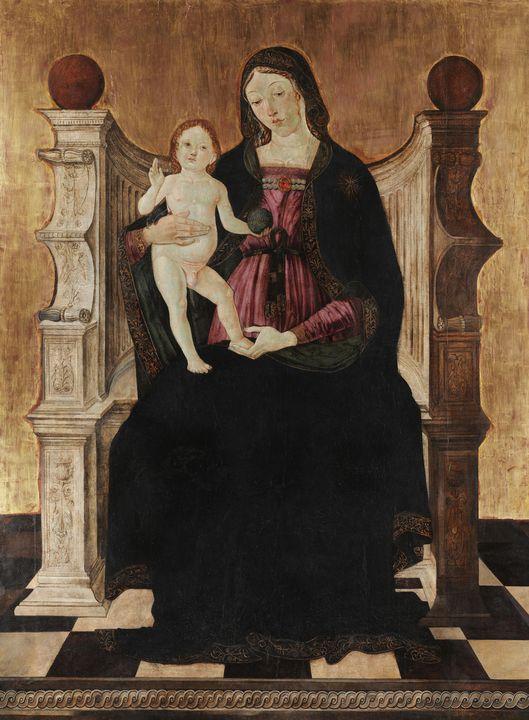 Cristoforo Faffeo~Madonna and Child - Old master