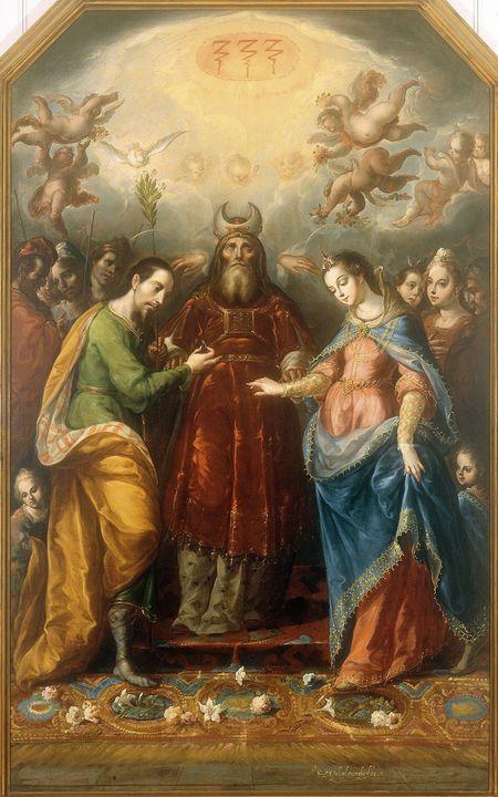 Cristóbal de Villalpando~The Betroth - Old master