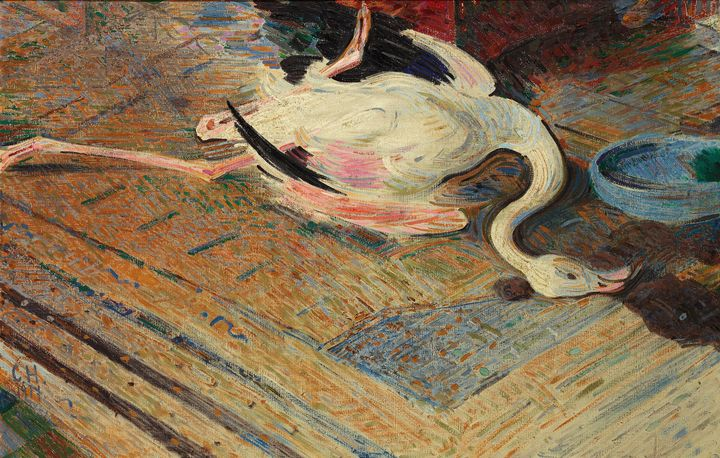 Curt Herrmann~Flamingo - Old master