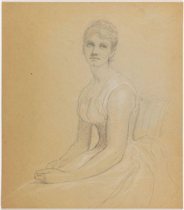 Daniel Huntington~Sketch for Portrai - Old master