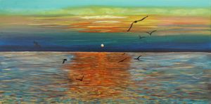 sunset on the sea - Margaret