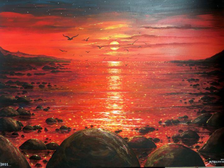 RED SUNSET - Margaret