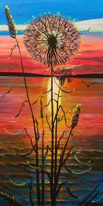Dandelion on the beach - Margaret