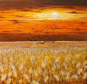 Granary at sunset - Margaret