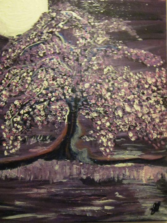 Twilight Purple Blossoms - Jackie Lozer
