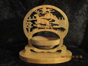 Collapsible basket deer in wildernes - PXWoodNJoys