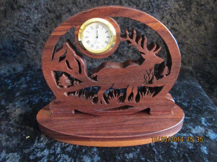 Handmade Wilderness Elk Clock - PXWoodNJoys