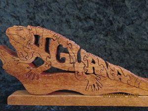 Wordimal iguana Puzzle Handmade
