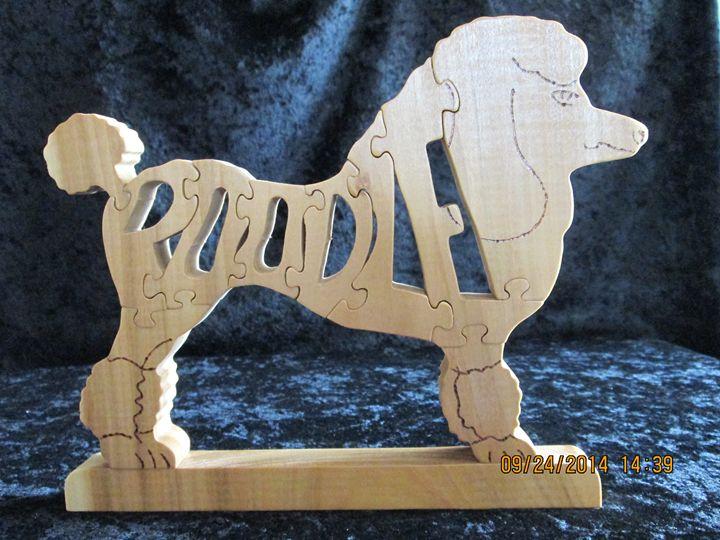 Wordimal Poodle Wooden Handmade - PXWoodNJoys