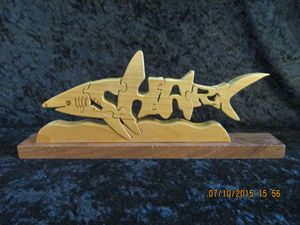 Wordimal Wooden Shark Puzzle