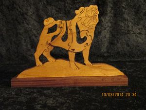 Wordimal Puzzle  Wooden Pug Handmade
