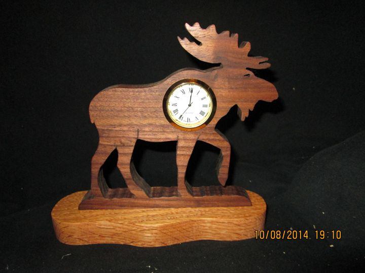 Hand made Moose Clock - PXWoodNJoys